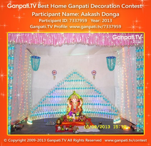 Aakash Donga Ganpati Decoration