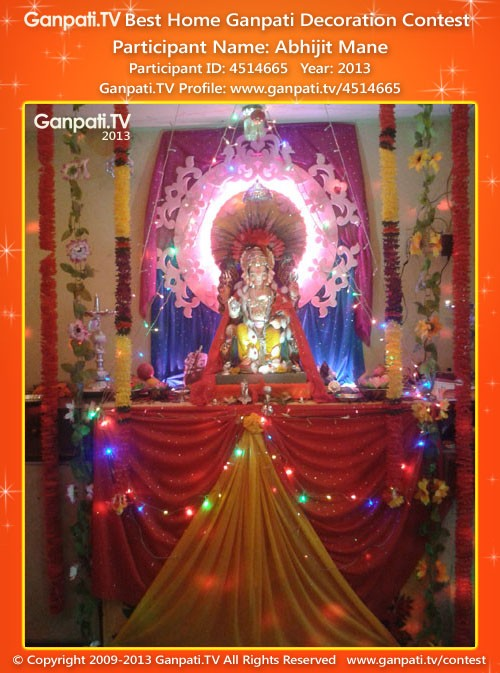 Abhijit Mane Ganpati Decoration