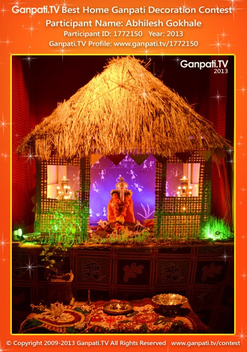 Abhilesh gokhale ganpati tv Ganpati decoration design for home