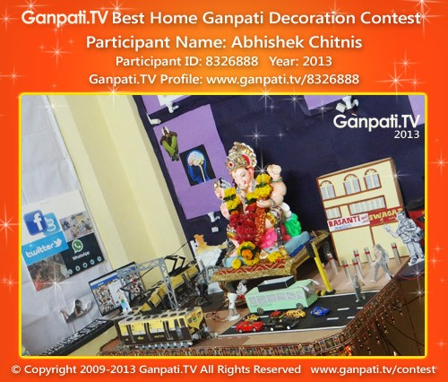 Abhishek Chitnis Ganpati Decoration