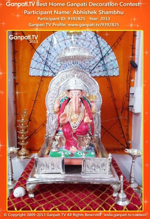 Abhishek Shambhu Ganpati Decoration