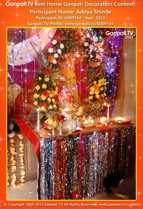 Background ganpati tv for Background decoration for ganpati