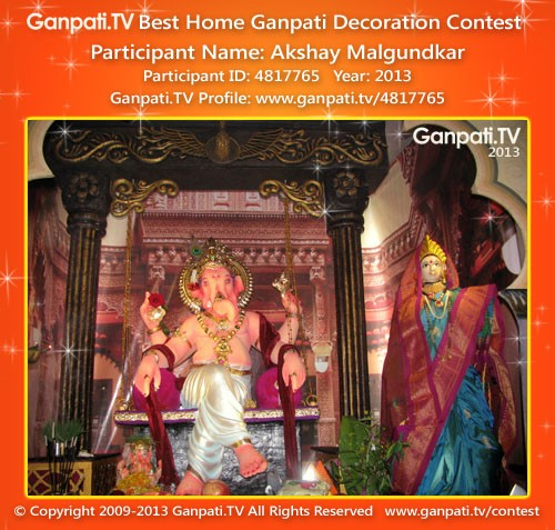 Akshay Malgundkar Ganpati Decoration