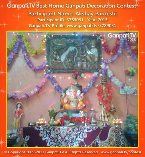 Akshay Pardeshi Ganpati Decoration