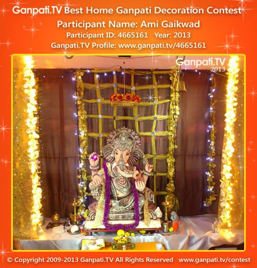 Ami Gaikwad Ganpati Decoration