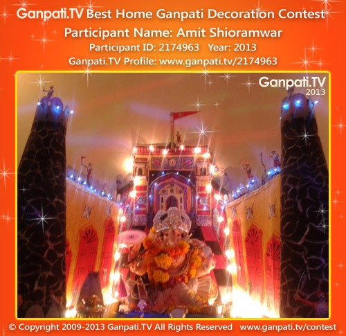 Amit Shioramwar Ganpati Decoration