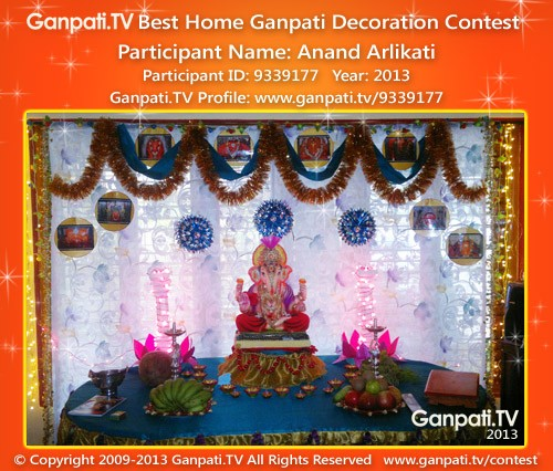 Anand Arlikati Ganpati Decoration