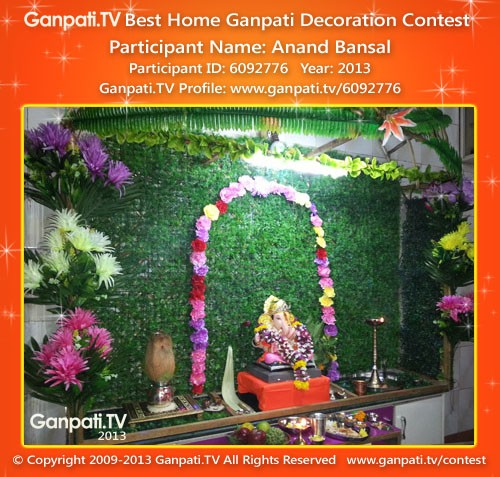 Anand Bansal Ganpati Decoration