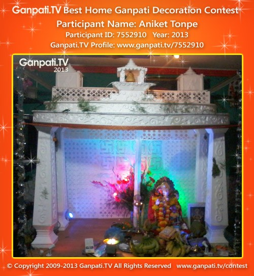 Aniket Tonpe Ganpati Decoration