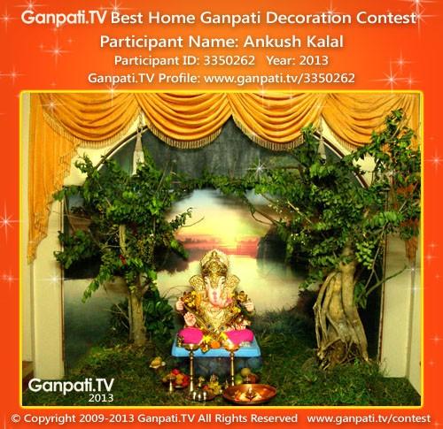 Ankush Kalal Ganpati Decoration