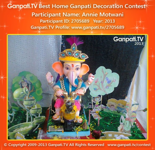 Annie Motwani Ganpati Decoration
