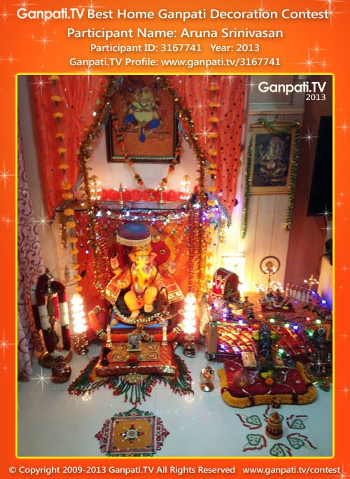 Aruna Srinivasan Ganpati Decoration