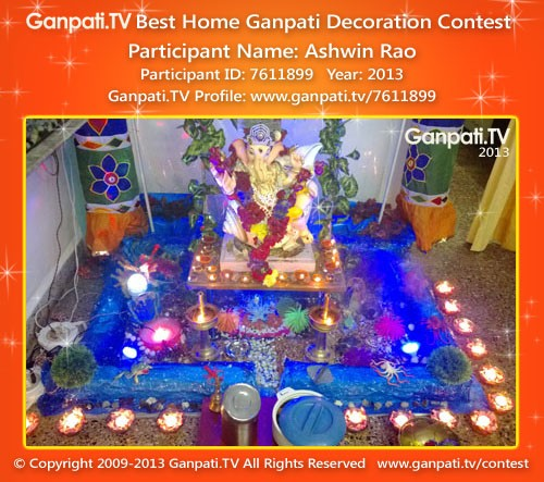 Ashwin Rao Ganpati Decoration