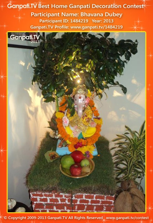 Bhavana Dubey Ganpati Decoration
