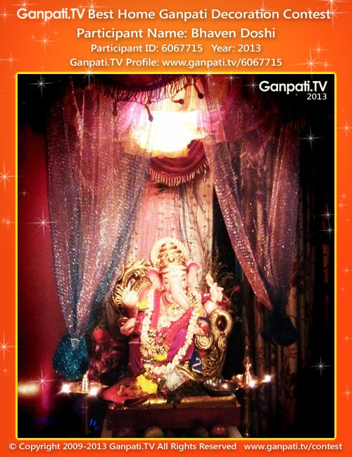 Bhaven Doshi Ganpati Decoration