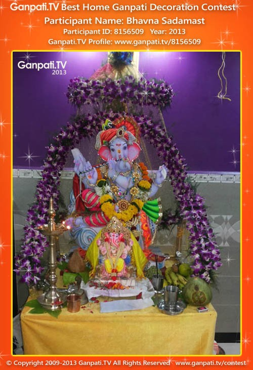 Bhavna Sadamast Ganpati Decoration
