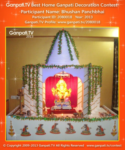 Bhushan Panchbhai Ganpati Decoration