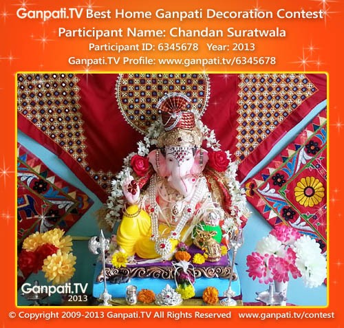 Chandan Suratwala Ganpati Decoration