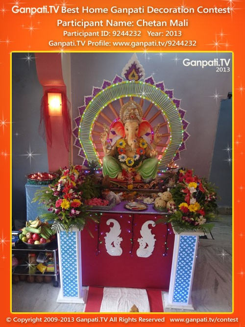 Chetan Mali Ganpati Decoration