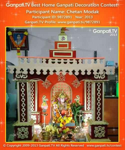 Chetan Modak Ganpati Decoration