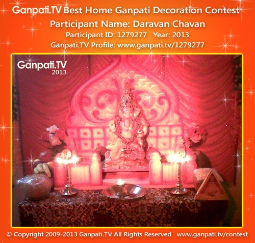 Daravan Chavan Ganpati Decoration