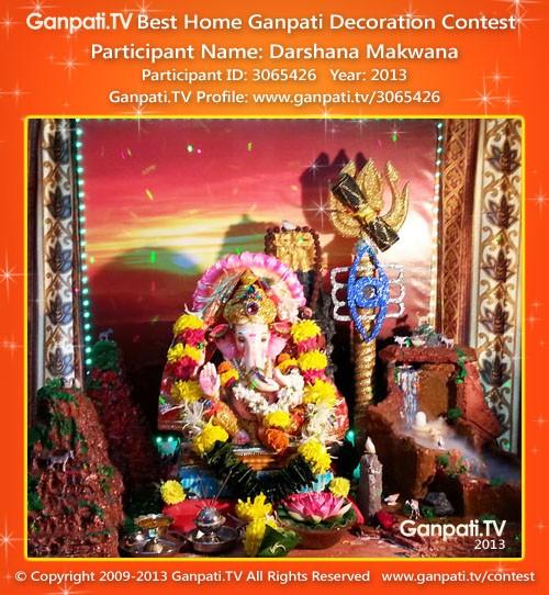Darshana Makwana Ganpati Decoration
