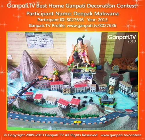 Deepak Makwana Ganpati Decoration