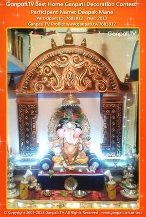 Deepak Mane Home Ganpati Picture