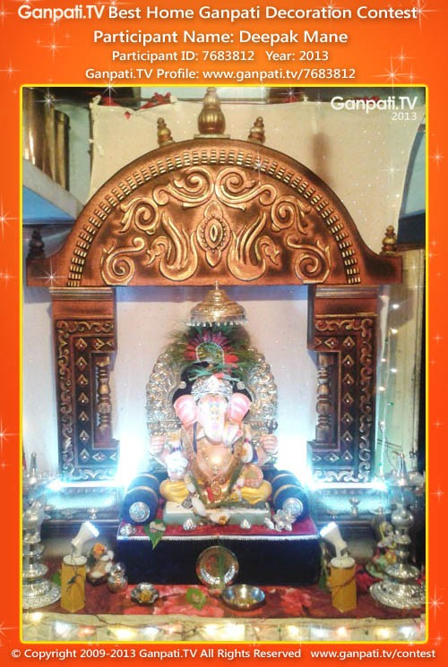 Deepak Mane Ganpati Decoration