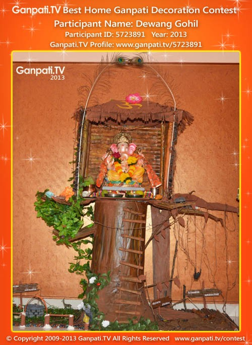 Dewang Gohil Ganpati Decoration