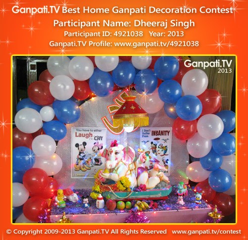 Dheeraj Singh Ganpati Decoration