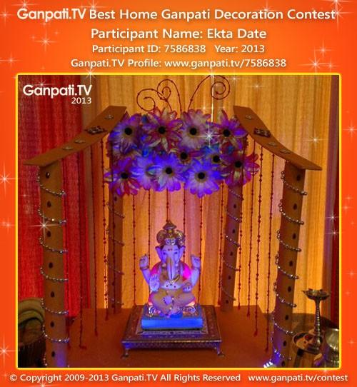 Ekta Date Ganpati Decoration