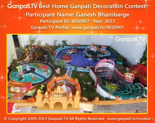 Ganesh Bhambarge Ganpati Decoration