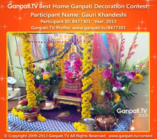 Gauri Khandeshi Ganpati Decoration