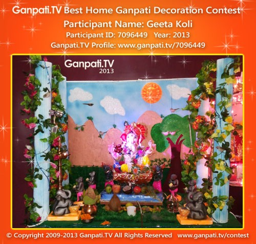 Geeta Koli Ganpati Decoration