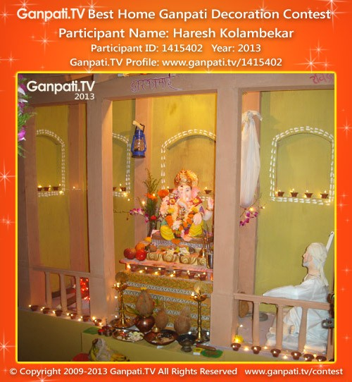 Haresh Kolambekar Ganpati Decoration