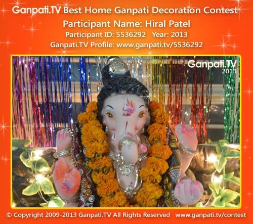 Hiral Patel Ganpati Decoration