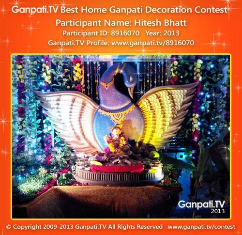 Hitesh Bhatt Ganpati Decoration