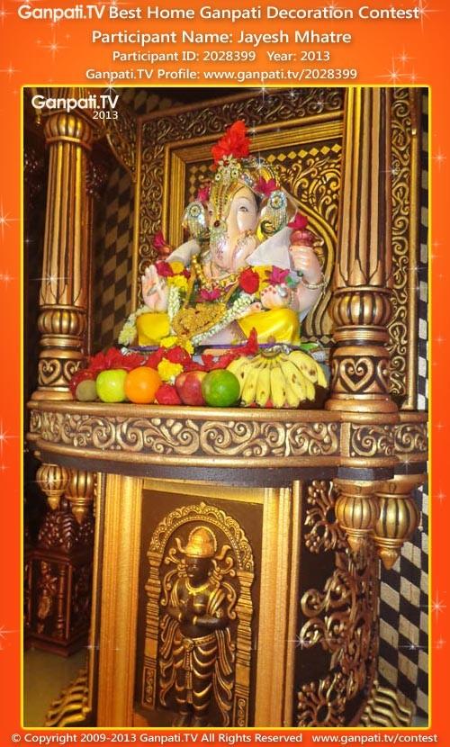 Jayesh Mhatre Ganpati Decoration