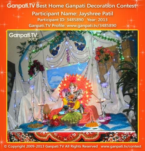 Jayshree Patil Ganpati Decoration