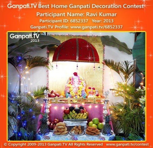 K Kumar Ganpati Decoration