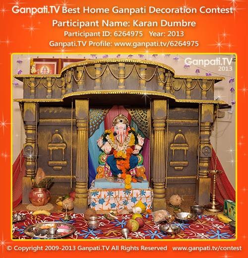 Karan Dumbre Ganpati Decoration