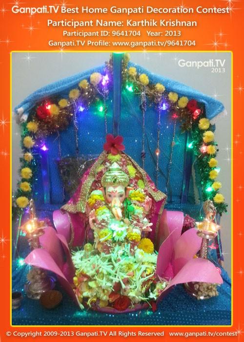 Karthik Krishnan Ganpati Decoration