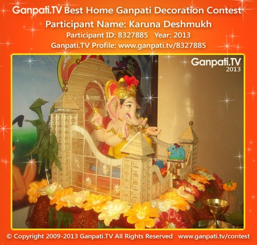 Karuna Deshmukh Ganpati Decoration