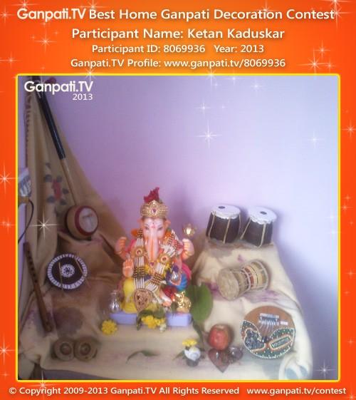 Ketan Kaduskar Ganpati Decoration