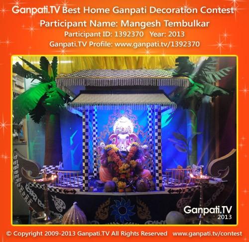 Mangesh Tembulkar Ganpati Decoration