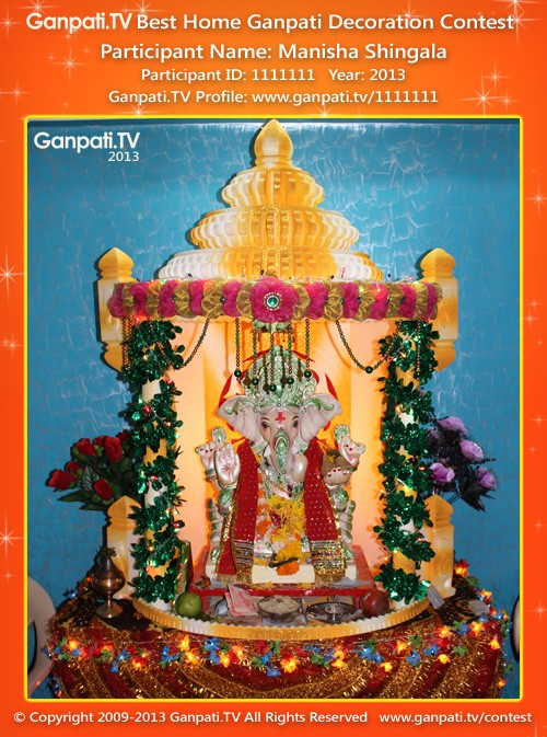Manisha Shingala Ganpati Decoration