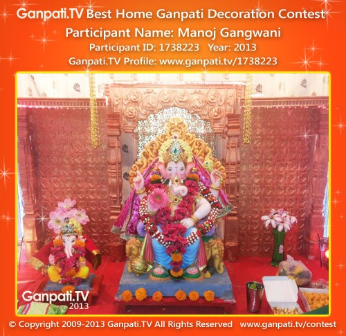 Manoj Gangwani Ganpati Decoration