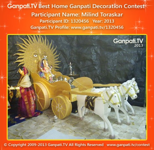 Milind Toraskar Ganpati Decoration