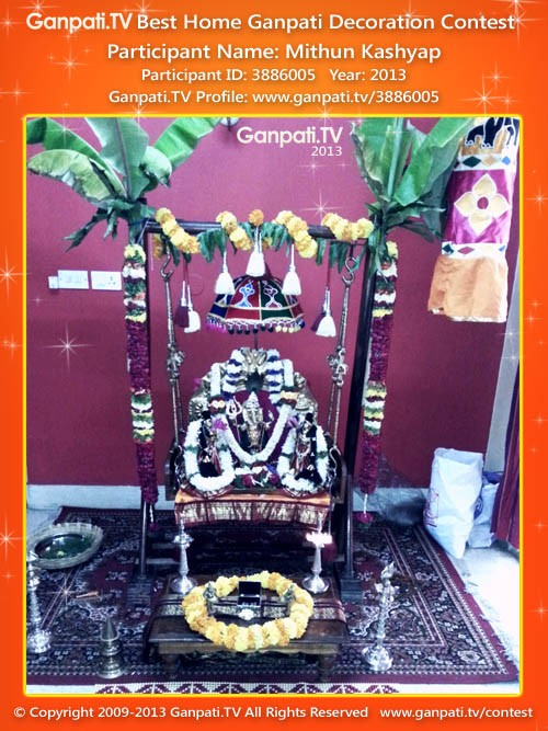 Mithun Kashyap Ganpati Decoration